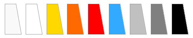 Kolorowe wypełnienia bram wahadłowych